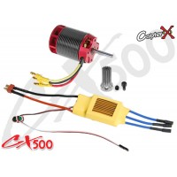 CopterX (CX500-10-00) 500L 1600Kv Brushless Motor with Pinion Gear & 70A ESC with BEC
