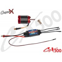CopterX (CX500-10-10) 500L 1600Kv Brushless Motor with Pinion Gear & 60A ESC with BEC (BACKORDER)