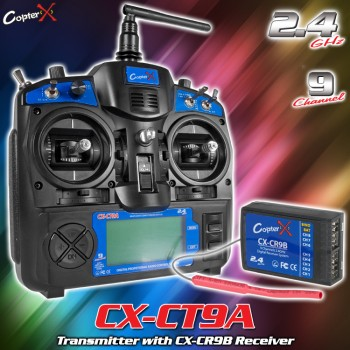 CopterX (CX-CT9A) Transmitter with CX-CR9B Receiver